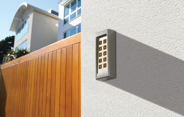 Call box and digitally coded gate lock for new house